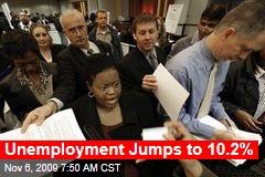 Unemployment Jumps to 10.2%