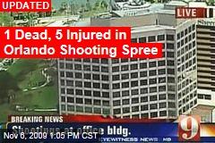 1 Dead, 5 Injured in Orlando Shooting Spree
