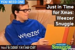 Just in Time for Xmas: Weezer Snuggie