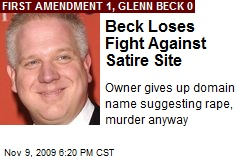 Beck Loses Fight Against Satire Site
