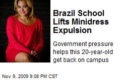 Brazil School Lifts Minidress Expulsion