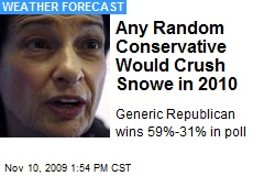 Any Random Conservative Would Crush Snowe in 2010