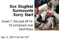 Sox Slugfest Surmounts Sorry Start