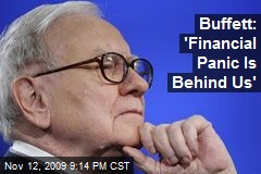 Buffett: 'Financial Panic Is Behind Us'