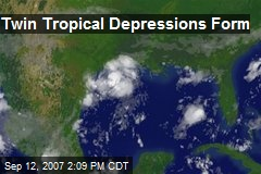 Twin Tropical Depressions Form