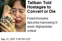 Taliban Told Hostages to Convert or Die