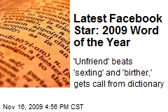 Latest Facebook Star: 2009 Word of the Year