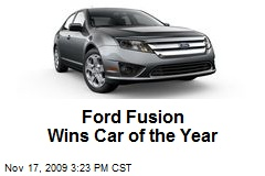 Ford Fusion Wins Car of the Year