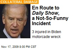 En Route to Daily Show , a Not-So-Funny Incident