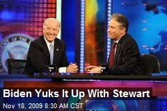 Biden Yuks It Up With Stewart