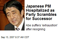 Japanese PM Hospitalized as Party Scrambles for Successor