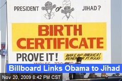 Billboard Links Obama to Jihad
