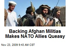 Backing Afghan Militias Makes NATO Allies Queasy