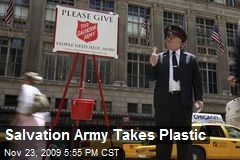 Salvation Army Takes Plastic