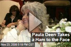 Paula Deen Takes a Ham to the Face
