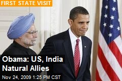 Obama: US, India Natural Allies