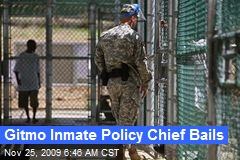 Gitmo Inmate Policy Chief Bails