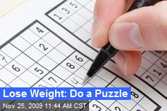 Lose Weight: Do a Puzzle