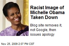 Racist Image of Michelle Obama Taken Down