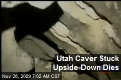 Utah Caver Stuck Upside-Down Dies