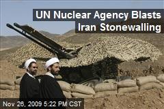 UN Nuclear Agency Blasts Iran Stonewalling
