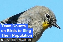 Team Counts on Birds to Sing Their Population