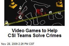 Video Games to Help CSI Teams Solve Crimes