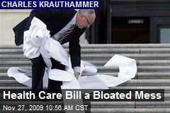 Health Care Bill a Bloated Mess