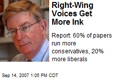 Right-Wing Voices Get More Ink