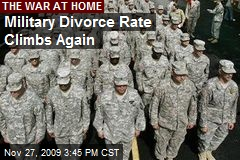 Military Divorce Rate Climbs Again