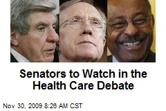 Senators to Watch in the Health Care Debate