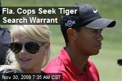 Fla. Cops Seek Tiger Search Warrant
