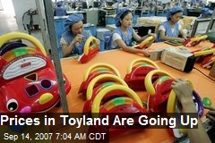 Prices in Toyland Are Going Up