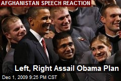 Left, Right Assail Obama Plan