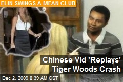 Chinese Vid 'Replays' Tiger Woods Crash