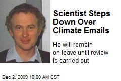 Scientist Steps Down Over Climate Emails