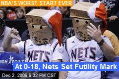 At 0-18, Nets Set Futility Mark