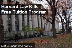 Harvard Law Kills Free Tuition Program