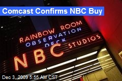 Comcast Confirms NBC Buy