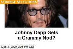 Johnny Depp Gets a Grammy Nod?