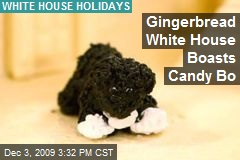 Gingerbread White House Boasts Candy Bo