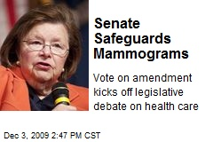Senate Safeguards Mammograms