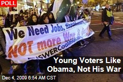 Young Voters Like Obama, Not His War