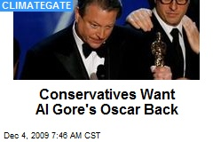Conservatives Want Al Gore's Oscar Back