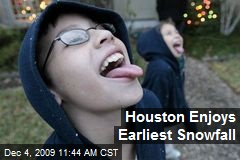 Houston Enjoys Earliest Snowfall