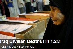 Iraq Civilian Deaths Hit 1.2M