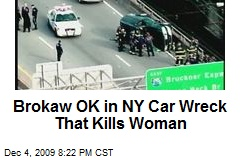 Brokaw OK in NY Car Wreck That Kills Woman