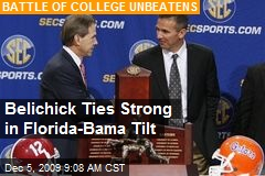 Belichick Ties Strong in Florida-Bama Tilt