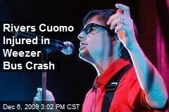 Rivers Cuomo Injured in Weezer Bus Crash
