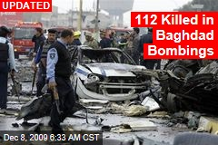 112 Killed in Baghdad Bombings